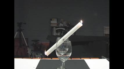 Готин Трик със свещ и чащи
