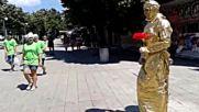 Мим в центъра на Бургас