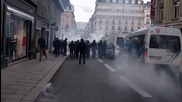 France: Injuries reported as police use tear gas at Rennes labour law demo