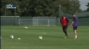 Ето Как Тренират Balotelli, Kolarov, Sinclair И Milner