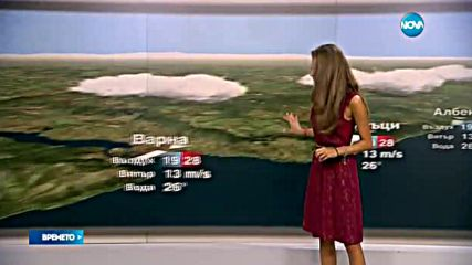 Прогноза за времето (24.08.2016 - обедна)