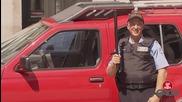Полицай - вандал, забавна шега