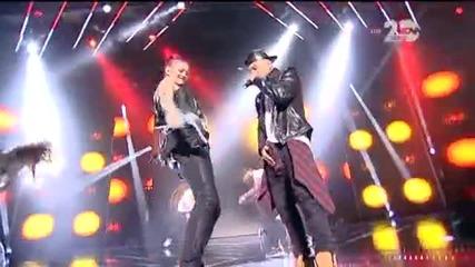 Жана Бергендорф на сцената на X Factor (30.10.2014)