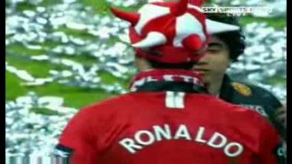 Кристиано Роналдо Празнува Спечелването На Карлинг Къп