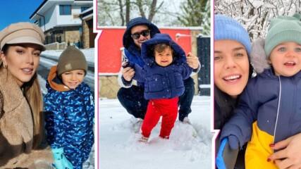 Няма нищо по-хубаво от първия сняг! И децата на популярните българи го оцениха подобаващо