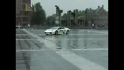 Въртене На Lamborghini Murcielago На Площад