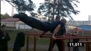 Workout Omsk - Planche world record