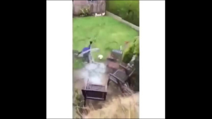 Kid jumps and crashes through glass table Vine _ Original