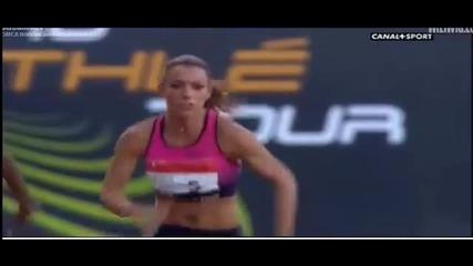 Ивет Лалова със злато и резултат №1 в Европа - 100m Монтрьо, Франция.