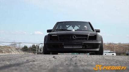 Чудовищен Mercedes E V12 1100 к.с, 1400nm. Дрифт машина!
