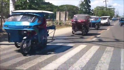Трафик с трикши и смайваща гледка във Филипините