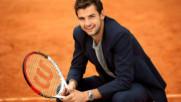 Най-добрият български тенисист Григор Димитров се разходи по модния подиум