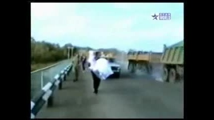 truck crash wedding
