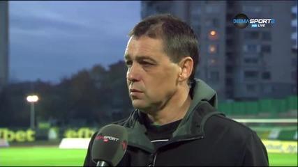 Мнението на Петър Хубчев след равенството с Ботев Пловдив