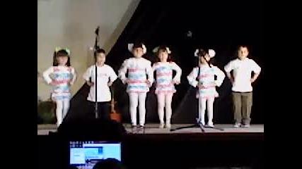 Децата от детска градина Червената шапчица с.лесура в общинските прегледи в гр.криводол 2-ра част