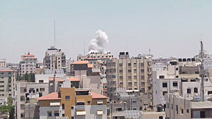 State of Palestine: Smoke rises across Gaza rooftops as Israeli airstrikes continue