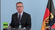 Germany: De Maziere urges EU to urgently reform asylum policy