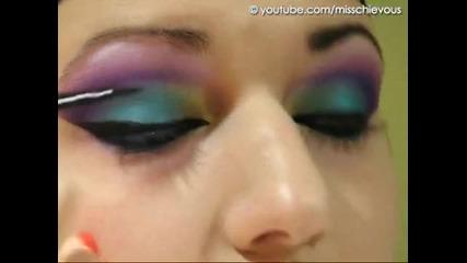 Arabian Peacock - Colorful Arab makeup tutorial
