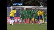 25.06 гол на Даниел Алвеш ! Бразилия - Юар 1:0 Купа на Конфедерациите