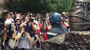 13-Foot-Tall Captain America Statue Unveiled in New York