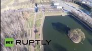 Russia: Drone captures Piskaryovskoye Memorial Cemetery