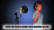 7 - годишен сладур пее Eenie meenie на J B : )
