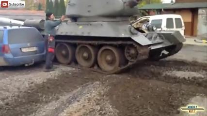 Компилация танк провали - Monthlyfails