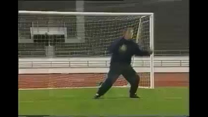 Scottish goalkeeper training