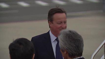Japan: Cameron & Lagarde arrive in Ise-Shima ahead of G7 meet