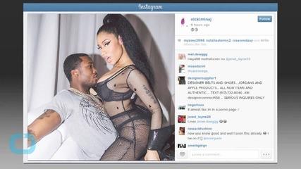 Nicki Minaj Mounts Rapper Meek Mill in Lingerie, Rumored Couple Poses for PDA-Filled Pics on Instagram