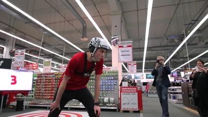 100 секунди безплатно пазаруване в магазин за черна и бяла техника