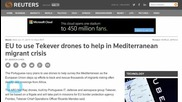 EU Will Use Drones to Help in Mediterranean Migrant Crisis