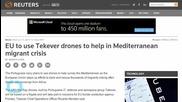 EU Will Use Drones to Help in Mediterranean Migrant Crisis