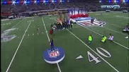 Christina Aguilera singing national anthem at super bowl