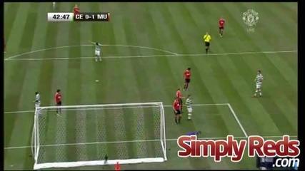 Манчестър Юнайтед 3:1 Селтик гол на Бербатов