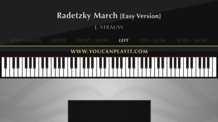 Strauss - Radetzky March [easy Piano Tutorial]