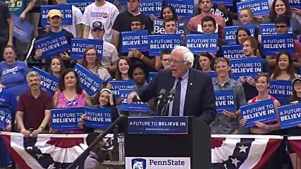 USA: Sanders rallies in Pennsylvania as New York primary unfolds