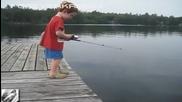 От малък му върви с риболова