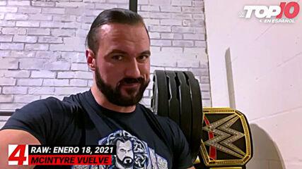 Top 10 Mejores Momentos de Raw En Español: WWE Top 10, Ene 18, 2021