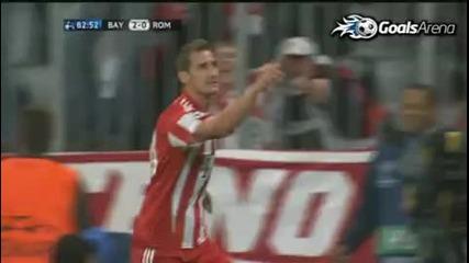 Bayern Munich 2 - 0 Roma Champions League 15.09.2010