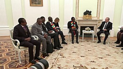 Russia: Putin hosts Zimbabwe President Mnangagwa in Moscow