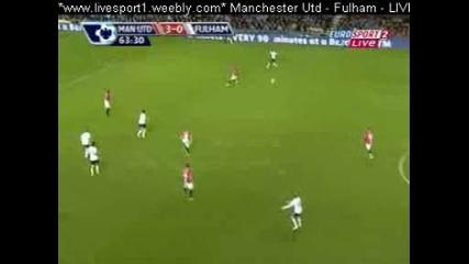 Man Utd - Fulham 3 - 0 Goal By Rooney