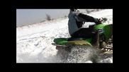 Kawasaki Kfx 700 In Snow