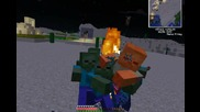Minecraft - Яко килване на зомбита...