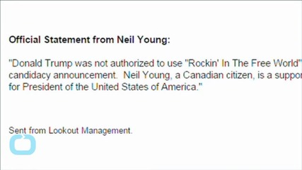 Trump Campaign: We'll Stop Using Neil Young's Music