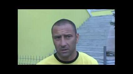 Интервю със Сашо Александров преди първата тренировка на Ботев за сезон