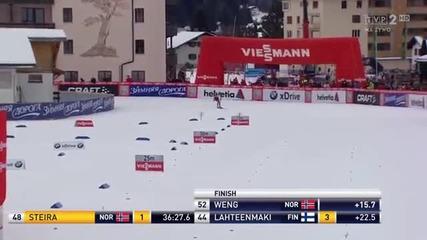 Davos 14.12.2013 Justyna Kowalczyk bieg na 15 km