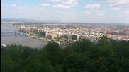 Панорамен кръгов поглед към Будапеща от хълма