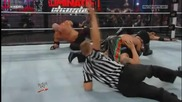 Rey Mysterio hits a Seated Senton off the Chamber