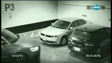 Невероятно паркиране на… стената